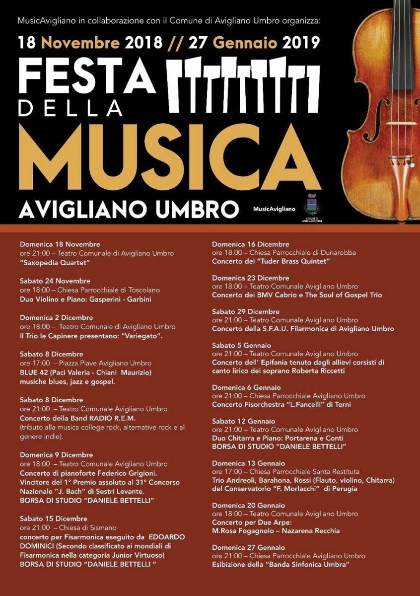 Avigliano Umbro_Festa della Musica 2018-2019