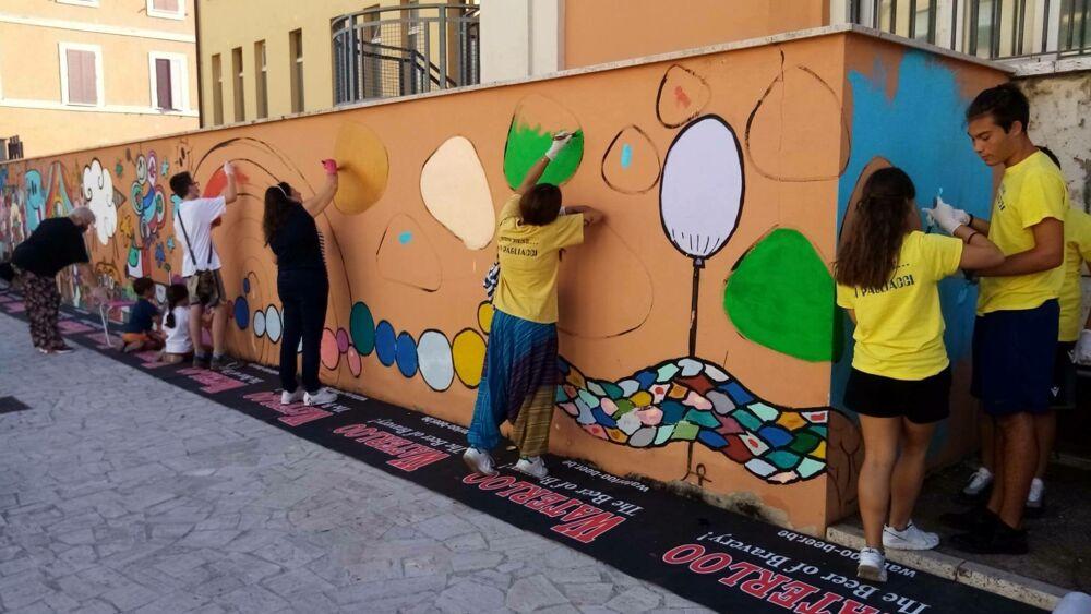Murales scuola De Amicis