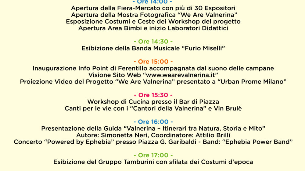 Programma we are valnerina_ 8 dicembre 2018