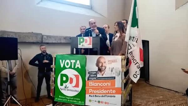"""Zingaretti a Narni: """"Uniamo le differenze per essere insieme più forti e salvare la nostra terra"""""""