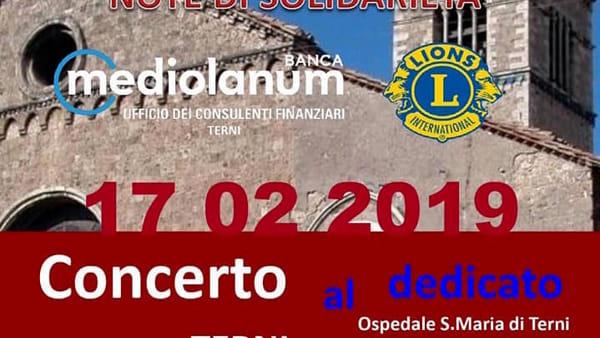 Lions club Terni Host solidale, lo 'Stabat Mater' a San Francesco per donare soldi al reparto di pediatria