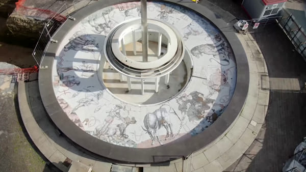 La Fontana di piazza Tacito vista dall'alto, ecco uno spettacolare video in attesa del termine dei lavori